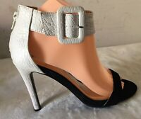 Women's Party Shoes Peep Toe Ankle Strap w/Buckle High Heels Size 7 new