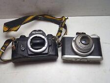 Vintage Pair of Cameras Nikon EM Body & Meteor Universal Camera Corporation