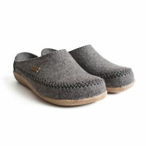 Haflinger Fletcher 718001 Clog Slipper Women's Shoes New Grey Size 39 EU/ 8 US