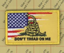 Dont Tread On Me Navy Jack Flag Patch US ARMY BIKER Don't snake Gasden join 210