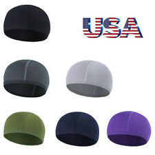 US Men Woman Skull Cap Quick Dry Sports Sweat Beanie Hat Great Cycling Dome Caps