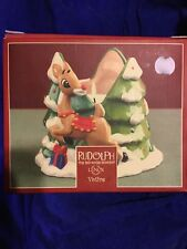 Nib Vintage Lenox Rudolph the Red-Nosed Reindeer Christmas Candle Votive