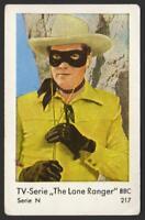 The Lone Ranger - 1962 Vintage Dutch Serie N Gum Card #217