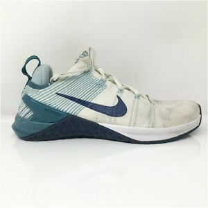 Nike Womens Metcon DSX Flyknit 2 924595-101 White Blue Running Shoes Size 7.5