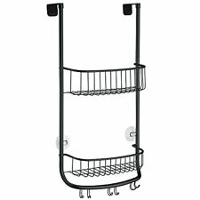InterDesign Forma Over-Door Shower Caddy, Small Hanging Bathroom Shelves, Made o