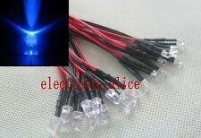 3mm/5mm Red Green Blue RGB 3V 5V 12V DC Round Pre-Wired Water Clear LED