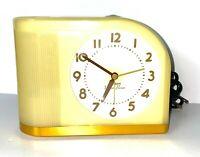 Big Ben Moon Beam Alarm Clock 43000 Yellow Modern Westclox Tested-Works NICE!