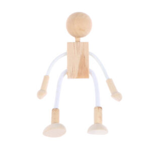 Wooden Doll Adorable Unfinished Shapable Educational Craft Toys Desktop Decor
