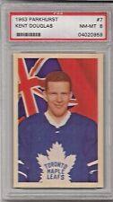 1963 Parkhurst Hockey Kent Douglas Card # 7 PSA 8 NM-MT