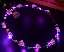 Wedding Party Flower Headband LED Light Up Hair Wreath Hairband Garlands Fashion