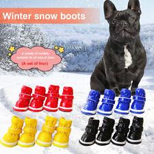 Dog's Winter Shoes Warm Pet Snow Boot PU Leather Waterproof Anti-Slip Size1-5 !