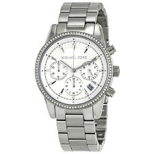 Michael Kors Ritz Chronograph White Dial Ladies Watch MK6428