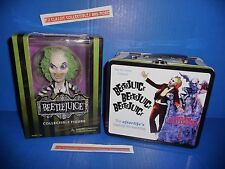 Beetlejuice Stylized 6-Inch Action Figure And Beetlejuice Lunch Box/Tin Tote New