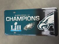 Philadelphia Eagles NFL Super Bowl LII CHAMPIONS METAL License Plate 2017