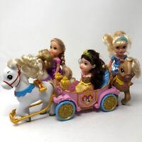 Disney Princess Royal Carriage Doll & Pony Set Petite Rapunzel Cinderella Belle