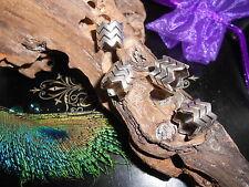 Dreadlock Beads Antique Silver Style ZigZag Cuffs 8mm Hole Tube Stunning **UK**