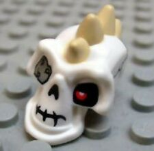 LEGO - Minifig, Head Modified Skeleton with Tan Spikes and Metal Eyepatch