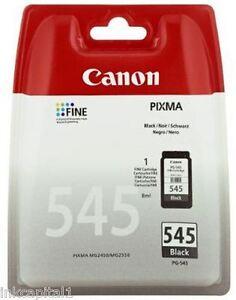 1 x Canon PG-545, PG545 Original OEM PIXMA Black Inkjet Cartridge