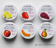 "6 LA COLORS Nail Polish Remover Pads ""6 Scented Set - Total 192 pads"" Joy's"