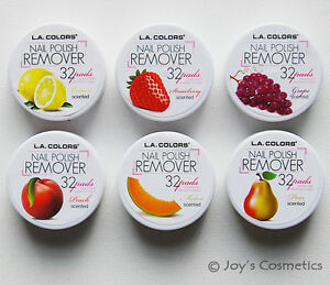 """6 La Couleurs Nail Polish Remover Pads """" 6 Parfumé Set - Total 192 Patins """""""
