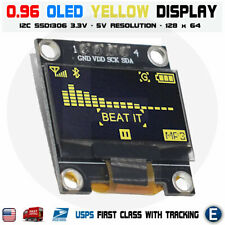"0.96"" I2C IIC 128X64 LED OLED LCD  Display Module Arduino YELLOW Color SSD1306"