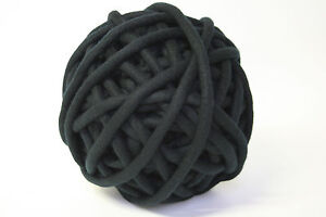 2kg Coloured Merino felted super chunky Nundle wool vine knitting Black