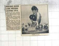 1967 Penzance Boxer Rodney Walsh Gains Western Counties Title