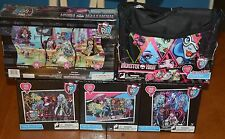 HUGE LOT COLLECTION OF MONSTER HIGH PUZZLES - PUZZLE PACK BAG, FOIL & PANORAMA