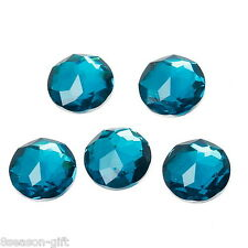 150PCs Peacock Blue Resin Embellishment Finding Cabochon DIY Flatback Faceted
