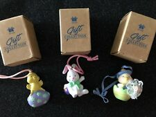 """Avon  (3)   """"Springtime Cuties Easter Tree Ornaments""""    Bunny*Duck*Chick"""