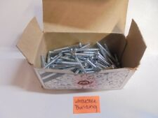 10X4 WOOD SCREWS, ROUND HEAD, ZINC CHROMATE, LOT OF 90