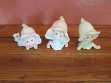 Set of 3 Porcelain Homco Fairy Pixie Elves Figurines 5615