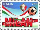 # ITALIA ITALY - 1994 - Milan Winner - Calcio Football Soccer Sport Stamp MNH
