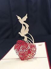 Valentines,Wedding, Engagement, Anniversary handmade card  3d pop up & origami