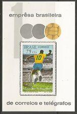 Il Brasile. 1969. PELE'S 1000th obiettivo miniatura FOGLIO. SG: ms1278. inutilizzati.