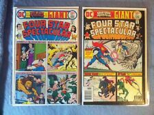 Four Star Spectacular 1 & 2 (1976) 9.0/ 9.0 Vf/Nm Wonder Woman Flash Hawkman