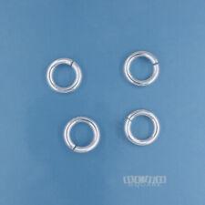 4 Sterling Silver 1.5 x 8mm Heavy Duty Open Jump Ring Connector 15 Gauge #33142