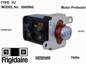 Vintage 1940s/1950s Frigidaire GM Refrigerator motor protector 5900965 OEM NOS
