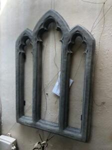 Pair of Antique Style Gothic Style Triple Arch Window