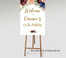 Printable Welcome Sign 30th Birthday 21st / 40th / 50th / 60th 70th 80th Floral