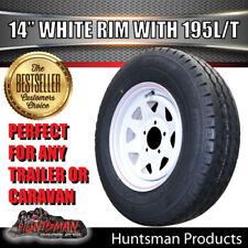 14 x 6 195 LT Sunraysia HT Wheel Rim & Tyre White Trailer Caravan Boat 195R14