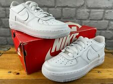 NIKE AIR FORCE 1 LOW BASKETBALL WHITE LEATHER TRAINERS CHILDRENS *GRADE A* C
