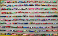 Wholesale Lots 40pcs Mixed Color Charm Polymer clay Jewelry Women Lady Rings