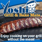 Yoshi Copper Grill and Bake Mats Heat Conductive BBQ Kitchen Tool NEW 2 PC Set