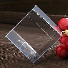 10 x Bomboniere favour clear PVC LARGE wedding gift cup cake product box 15cm sq