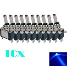 10PCS Blue LED Light Toggle Switch Rocker 12V ON OFF For Car Truck ATV Airplane