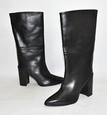 New! Stuart Weitzman 'Straighten' Pointy Toe Boot Black Leather 10 M MSRP $698