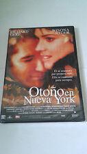"""DVD """"OTOÑO EN NUEVA YORK"""" PRECINTADA RICHARD GERE WINONA RYDER JOAN CHEN"""