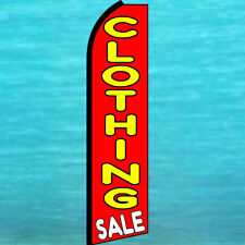 New listing Clothing Sale Swooper Flag Tall Curved Advertising Sign Flutter Feather Banner