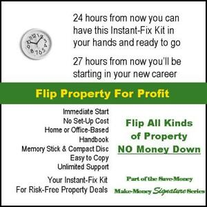 Make Money From Home. Flip Property For Profit Without Having to Pay For It